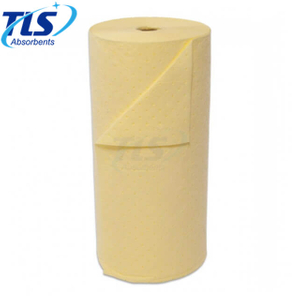 Yellow Hazardous Chemical Absorbent Mat Rolls 40cm*50m*8mm
