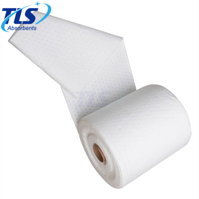 Perforated Oil Spill Absorbent Roll 40cm*50m*4mm 100% PP Meltblown