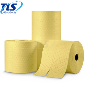 Yellow Chemical Absorbent Rolls For Spill Cleanup 40cm*50m*3mm