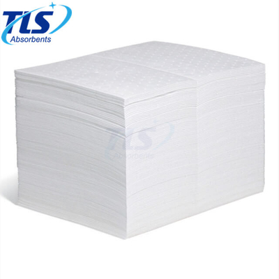 PP White Embossed Absorbent Oil Spill Pads For Fuel