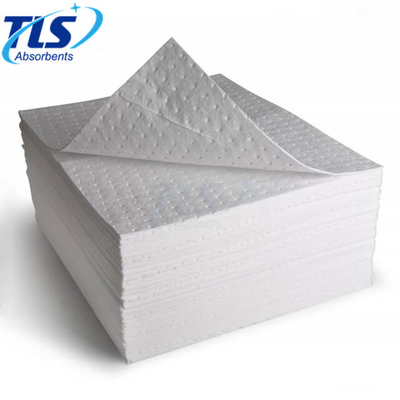 Large White Perforated Oil Absorbent Pads For Oil Spills