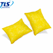 20cm x 25cm Hazchem Absorbent Pillows Yellow Quickly Soak Up Acids
