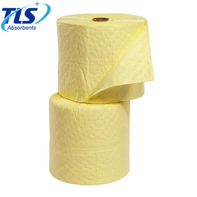 80cm*50m*4mm Yellow Absorbent Rolls For Chemical Spills Emergency Cleanup