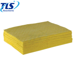 40cm*50cm*4mm Yellow Hazmat Chemical Spill Absorbent Sheets