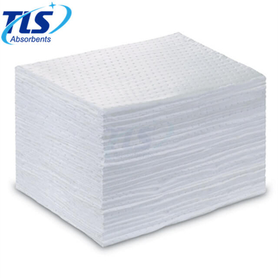 40cmx50cmx3mm Perforated White Oil Absorbent Pads