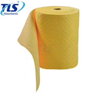 80cm*50m*7mm chemical spill response absorbent rolls 100%PP Perforated