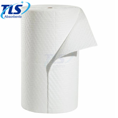 White Oil Only Absorbent Perforated Rolls 80cm*50m*5mm