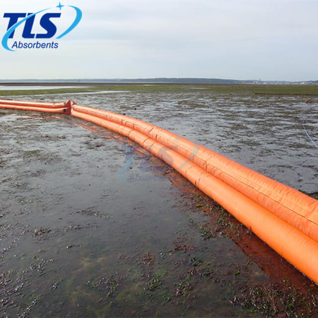 Water-filled Shoreseal Boom For Ports And Terminals Orange Color