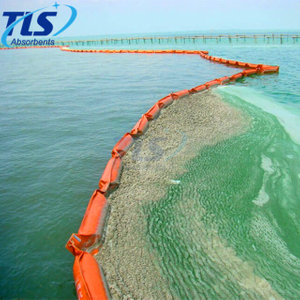 Impermeable frame type Orange silt curtain boom for dredging