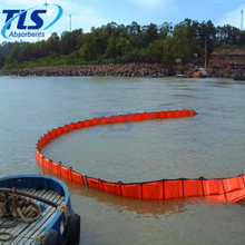 PVC Heavy Duty Reusable Oil Fence Containment Boom For Marine