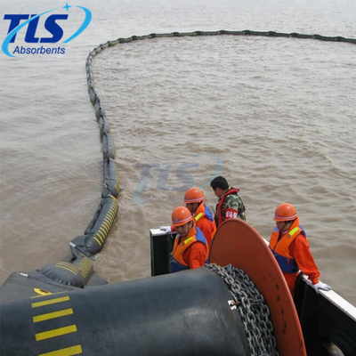 Ocean Reusable Inflatable Oil Containment Rubber Boom For Oil Spill