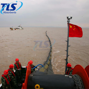 1200mm Air Inflatable Rubber Oil Containment Boom For spills Control