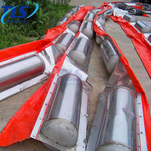 Inflatable Rubber Fire Resistant Oil Boom For Spill Control