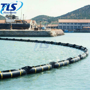 Red Color Inflatable Oil Containment Boom For Marine